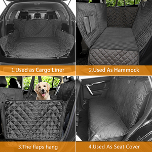 Image 3 - Dog Car Seat Cover Luxury Quilted Car Travel Pet Dog Carrier Car Bench Seat Cover Waterproof Pet Hammock Mat Cushion Protector