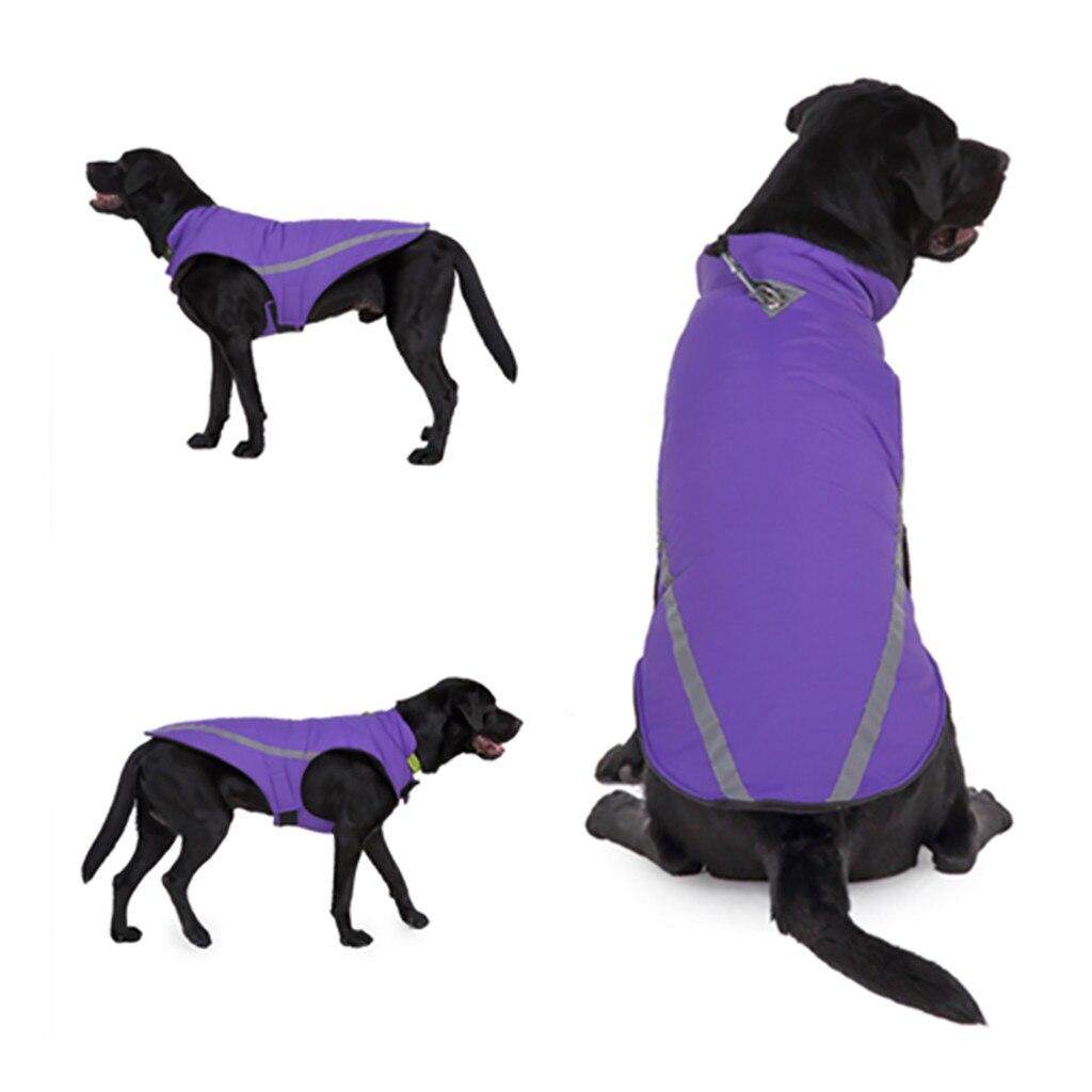 Теплая одежда для собак, светоотражающая водонепроницаемая куртка для домашних питомцев, зимнее пальто, одежда для щенков, лыжный костюм для маленьких, средних и больших собак, французского бульдога-1
