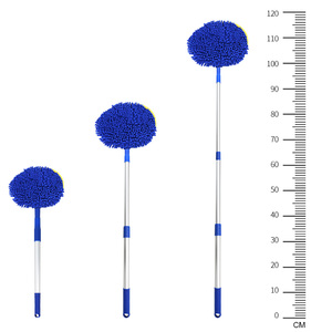 Image 5 - Car Wash Brush Telescoping Long Handle Cleaning Mop Car Cleaning Brush Chenille Broom Auto Accessories