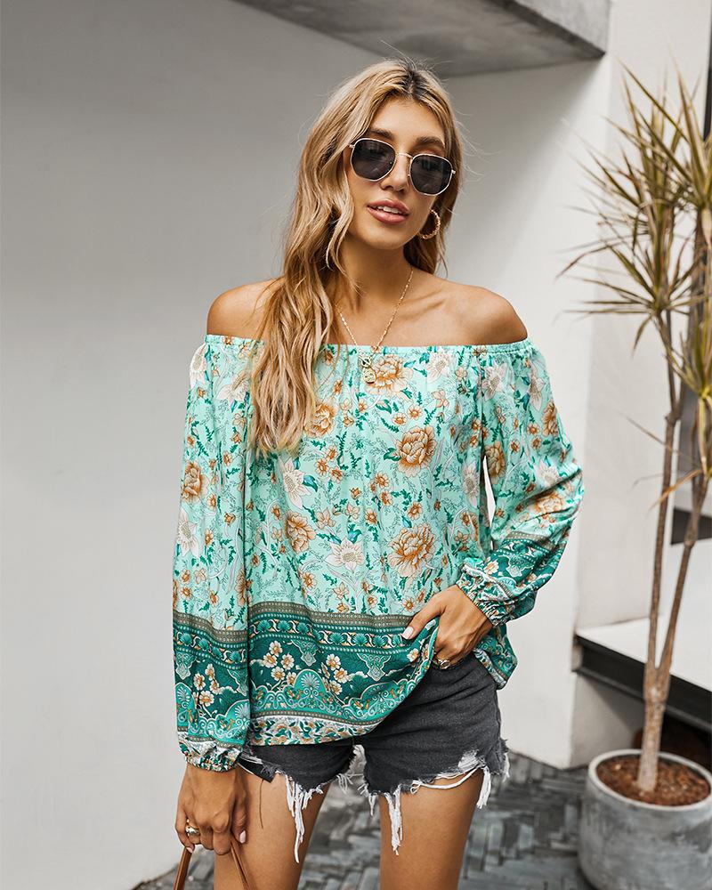 Винтажная блузка gypsylady с цветочным принтом рубашка в стиле