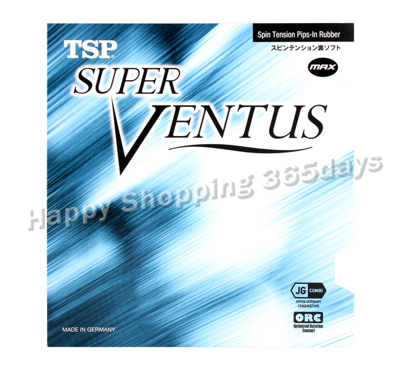 TSP SUPER VENTUS Table Tennis Rubber (Spin Tension, Made In Germany) Pips-in TSP Ventus Ping Pong Sponge