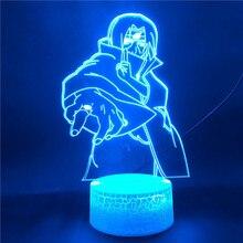 3D ночник аниме Наруто Узумаки Наруто Саске Учиха Итачи команды Какаши Хатаке для детей спальня ночник 3д NightLamp декоративные