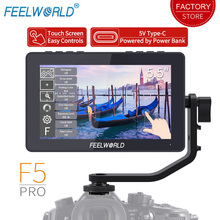 цены FEELWORLD F5 Pro Touch Screen Camera Field Monitor 4K HDMI 5.5 inch Full HD 1920x1080 LCD IPS DSLR Monitor for Camera Stabilizer