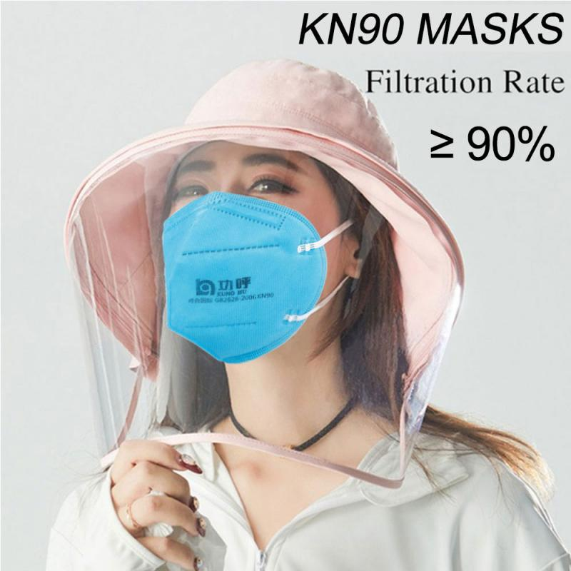 10/20 PCS Disposable KN90 Masks Anti-fog Masks Dust-proof Face Mouth Mask Breathable And PM2.5 Masks PK KN95 Mask N95 Mask