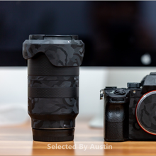 Premium lentille peau garde ombre noir pour Sony Prime lentille décalcomanie protecteur anti rayures Film autocollant couverture