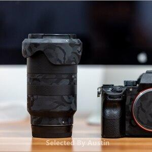 Image 1 - Premium lentille peau garde ombre noir pour Sony Prime lentille décalcomanie protecteur anti rayures Film autocollant couverture
