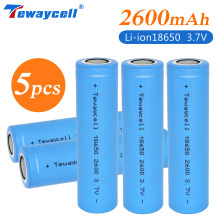 New 100% Original 18650 Lithium Batteries Rechargeable-Battery 2600mah for Flashlight batteries (NO PCB)
