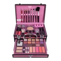 Juego de maquillaje caja de maquillaje profesional maleta completa Kit de maquillaje lápiz labial pinceles juego de cosméticos para maquillaje paleta de sombra de ojos