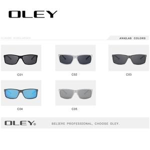 Image 4 - Oley Merk Mannen Vintage Vierkante Zonnebril Gepolariseerde UV400 Lens Eyewear Accessoires Mannelijke Zonnebril Voor Mannen/Vrouwen Y7160