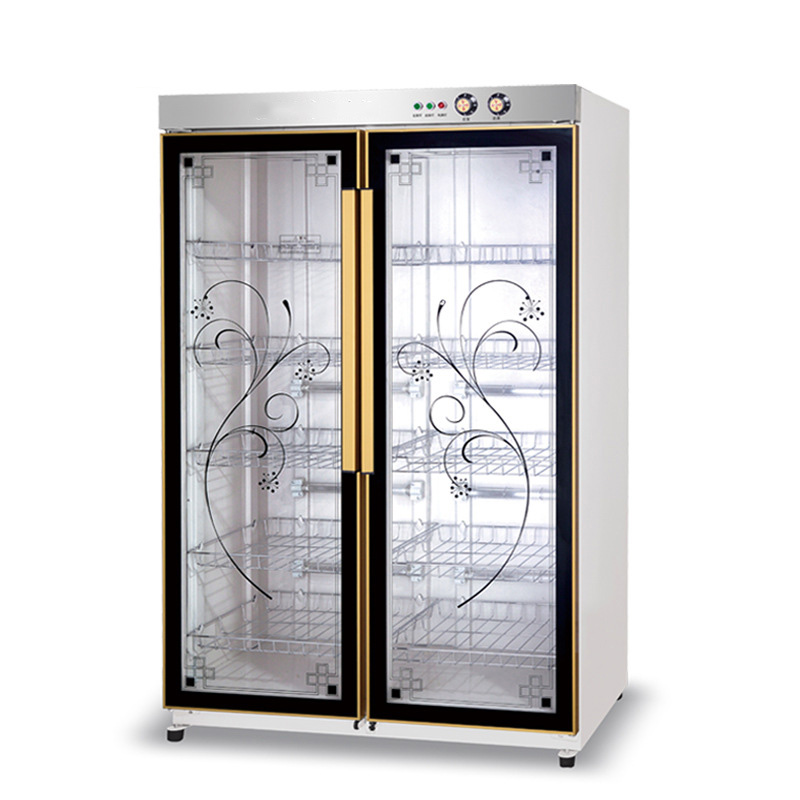 Disinfection Cabinet Commercial Household Vertical Double Door Large Capacity Stainless Steel Kitchen Hotel Restaurant Bowl