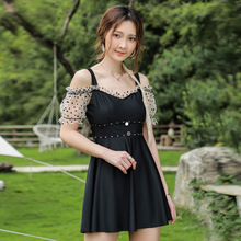 One Piece Swimsuit Women 2021 Large Size Sexy Swimwear Summer Girl New Korean Dress Cover Hot Bathing Suit Print Polyester