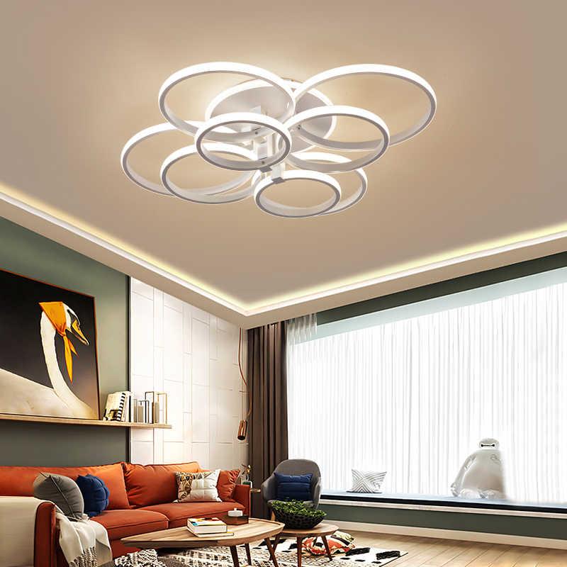Candelabro led moderno con luces acrílicas de control remoto para sala de estar dormitorio Hogar Accesorios de techo envío gratis