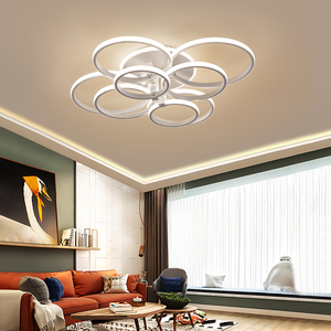 Image 3 - modern led chandelier with remote control acrylic lights For Living Room Bedroom Home Chandelier ceiling Fixtures Free Shipping