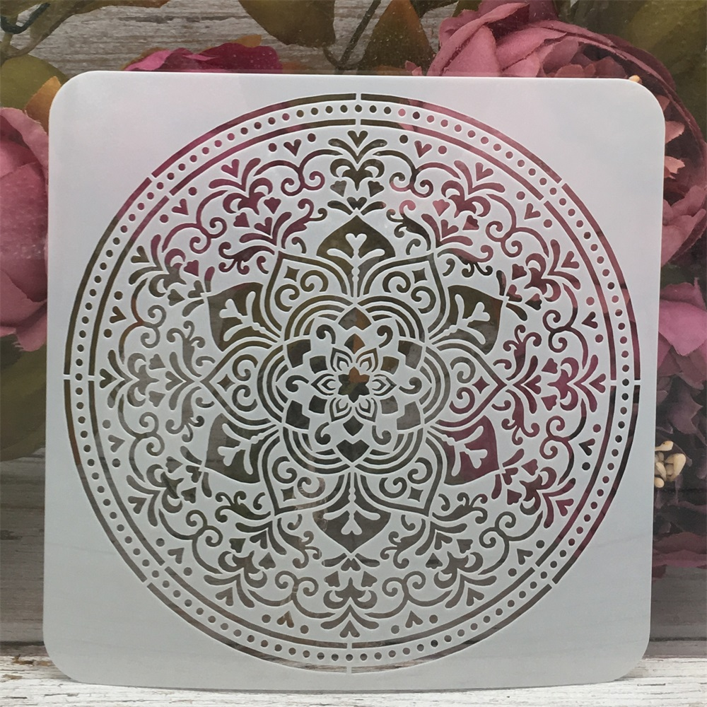 Mandala Circle Design 9 DIY Layering Stencils Painting Scrapbook Coloring Embossing Album Decorative Template