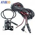 2,5mm Puerto Jack 4 Pin coche DVR cámara de visión trasera cámara de aparcamiento resistente al agua con 4 lámparas Led