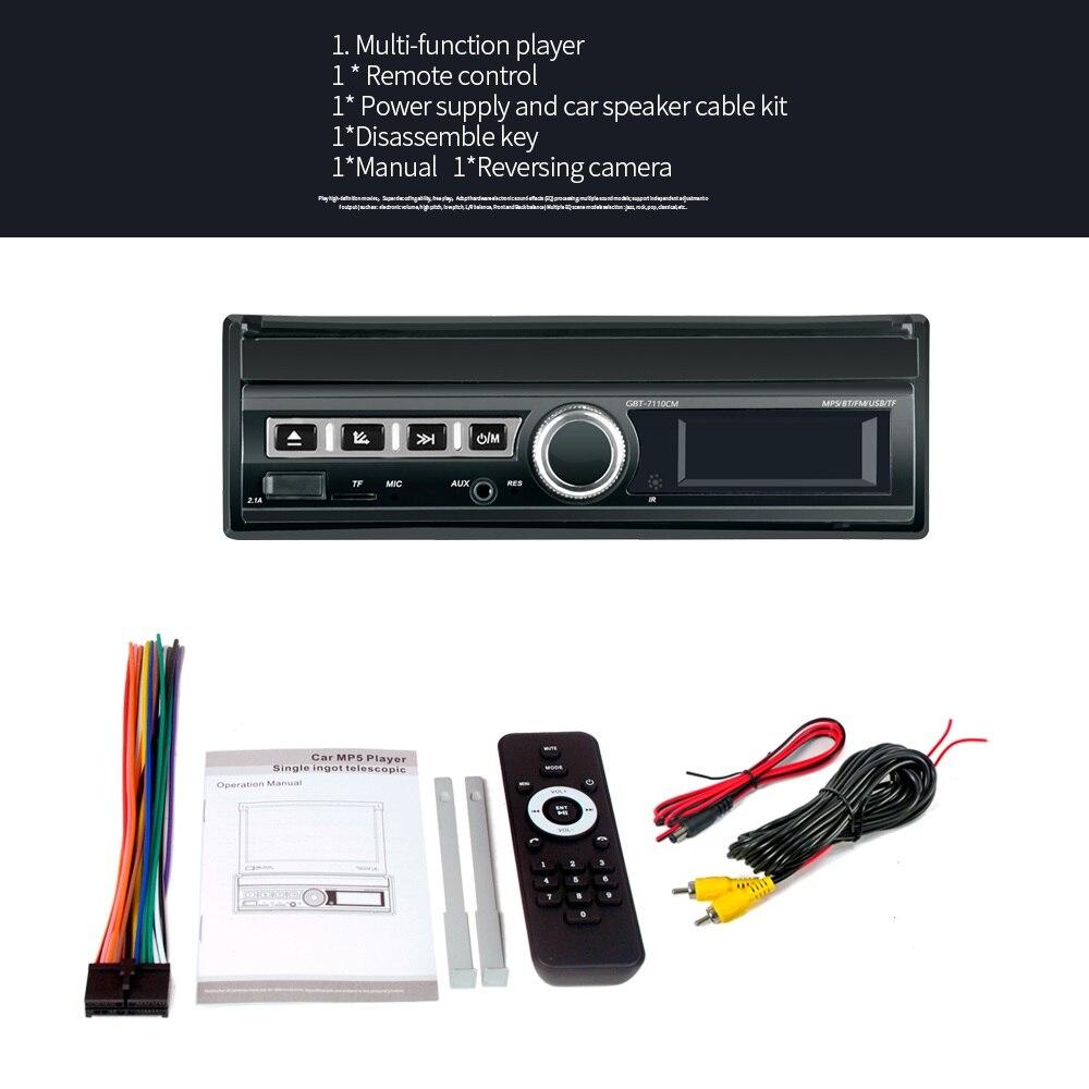 Lecteur multimédia 2 Din | Autoradio, Bluetooth, lien miroir, 2din écran tactile rétractable MP5 USB Audio stéréo 7110S voiture, lecteur mp3