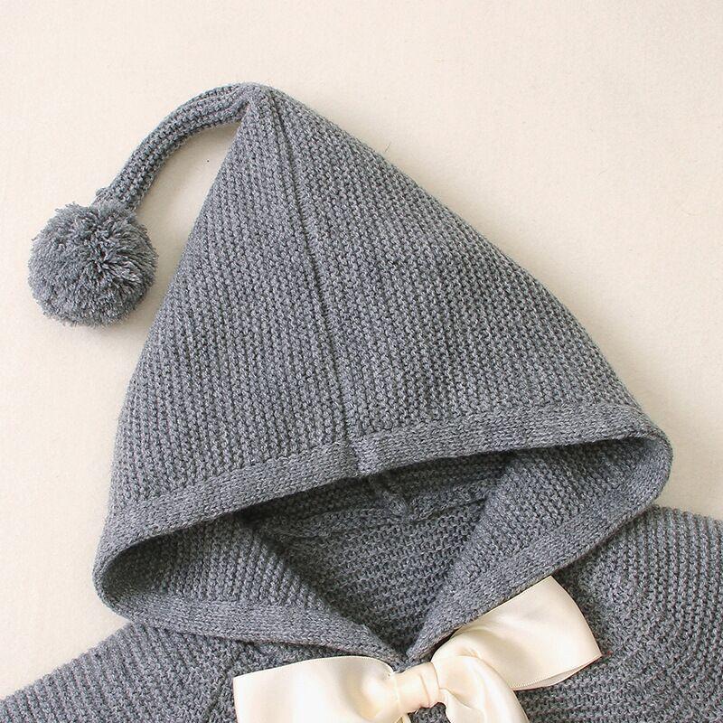 Baby Boy Clothes Winter Toddler Baby Sweaters Kids Boys Girls Sweatshirt Hoodie Cloak Knit  Sweater  For Newborn 1 2 3 Age 5