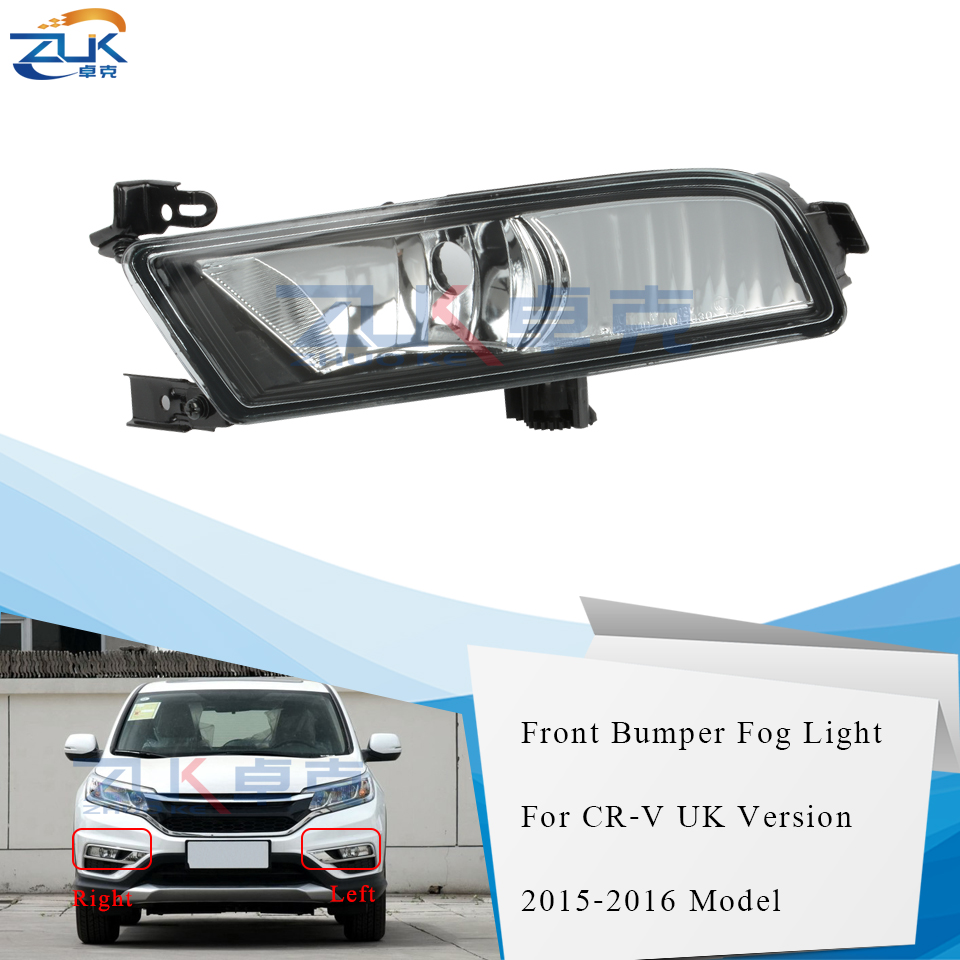 2015-2016 HONDA CR-V CRV BUMPER FOG LIGHT LAMP CHROME W//3000K HID+WIRING HARNESS