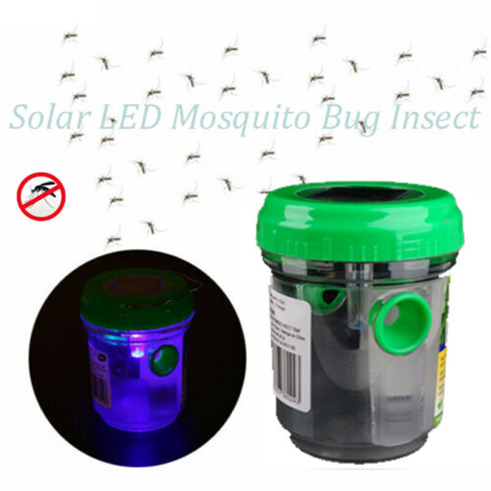 New Insect Trap Lamp Mosquito Bug Insect Trap Zapper Killer Solar LED Light Outdoor Lamp Lantern
