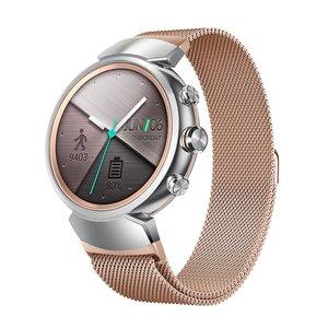 Image 1 - Meilleur Bracelet de boucle milanais pour Asus Zenwatch 3 Bracelet de remplacement daspiration magnétique accessoires de Bracelet de montre noir/argent/or