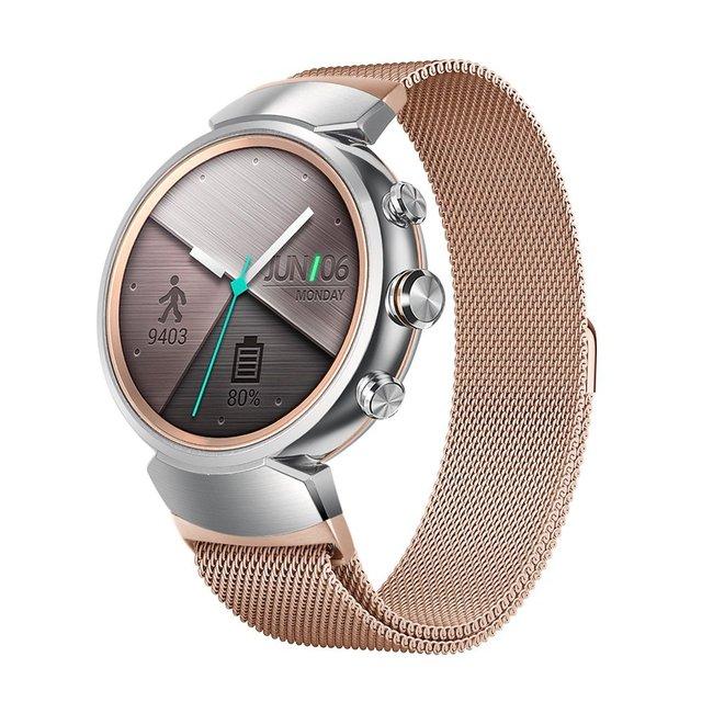 Meilleur Bracelet de boucle milanais pour Asus Zenwatch 3 Bracelet de remplacement daspiration magnétique accessoires de Bracelet de montre noir/argent/or