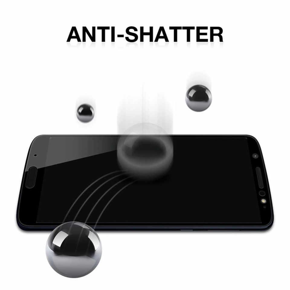 2 adet tam kapak temperli cam ekran koruyucu için Moto bir/Zoom/aksiyon/görüş/güç/ pro/Z4/P30/oyun/not ekran koruyucu film