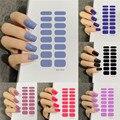 53 Цвет s ногтей наклейки-лак Однотонная одежда Цвет полоски Водонепроницаемый аппарат для крепления на гвоздях и стикер на полную длину по о...