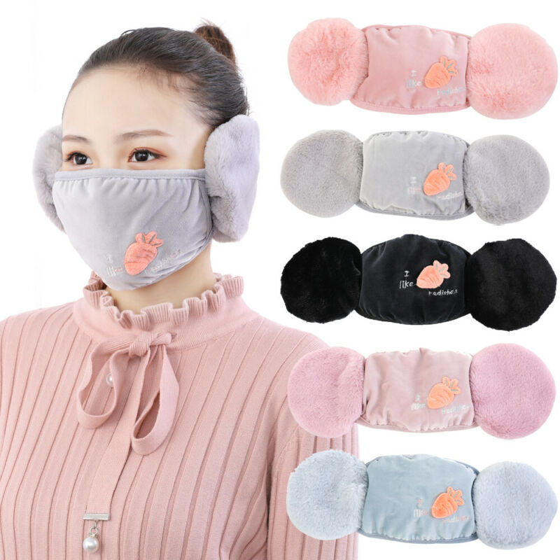 Ear Protective Mouth Mask Windproof Mouth-Muffle Anti-dust Winter Masks Children Anti Haze Flu Cotton Face Masks