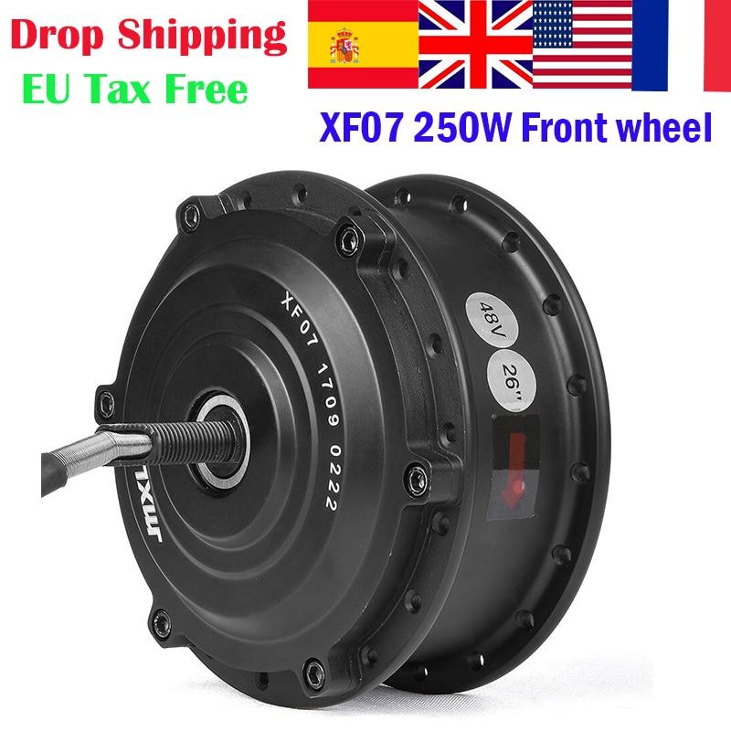 XF07 24V 36V 48V 250W 350W Bicicleta Eletrica Front Motor Wheel Brushless Dc Motor for Electric Bicycle Conversion kit