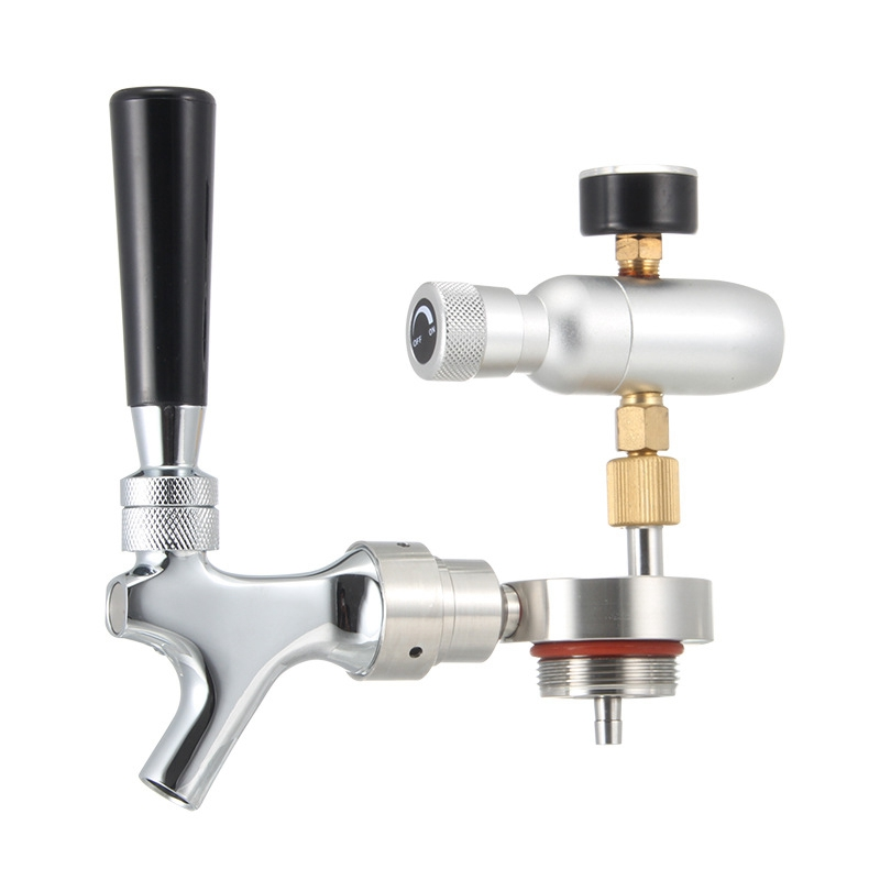 304 Stainless Steel Mini Growler Spears Beer Spear With Adjustable Tap Faucet With CO2 For 2L5L Beer Growlers