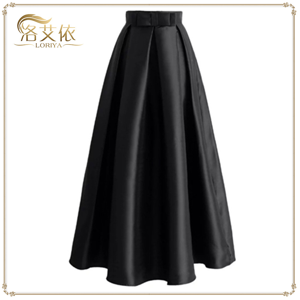 Muslim Fashion Butterfly Princess Pendron Skirt 5 Color Plus Size Semi-cut Skirt