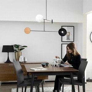 Image 4 - Postmodernen Minimalistischen Esstisch LED Anhänger Lampe Kreative Kunst Deco Parlor Halle Kaffee Shop Suspension Beleuchtung Leuchten