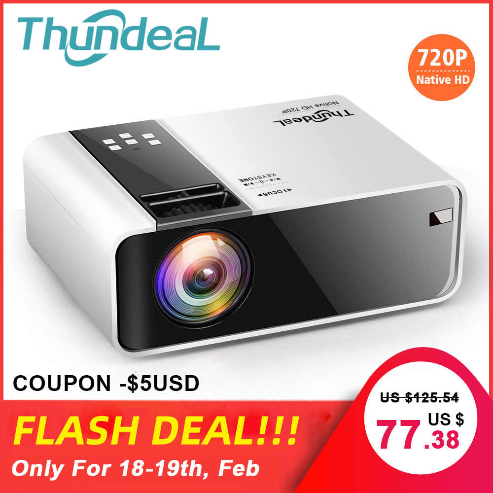 ThundeaL HD Mini projektör TD90 yerli 1280x720 P LED Android WiFi projektör Video ev sineması 3D HDMI film oyun Proyector