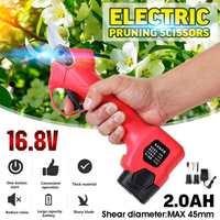 16.8V Wireless Electric Rechargeable Scissors Pruning Scissors Branch Cutter 45mm Shears Tree Garden Tool with Li ion Battery