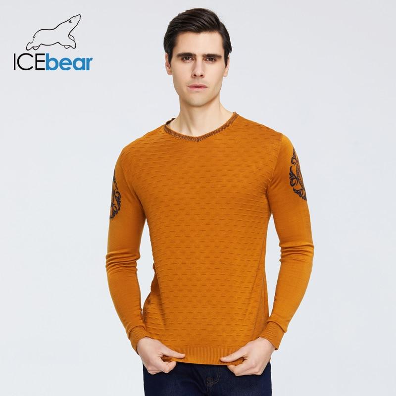 ICEbear Spring 2020 New Men's Sweater Warm O-neck Sweater Brand Clothing 9003