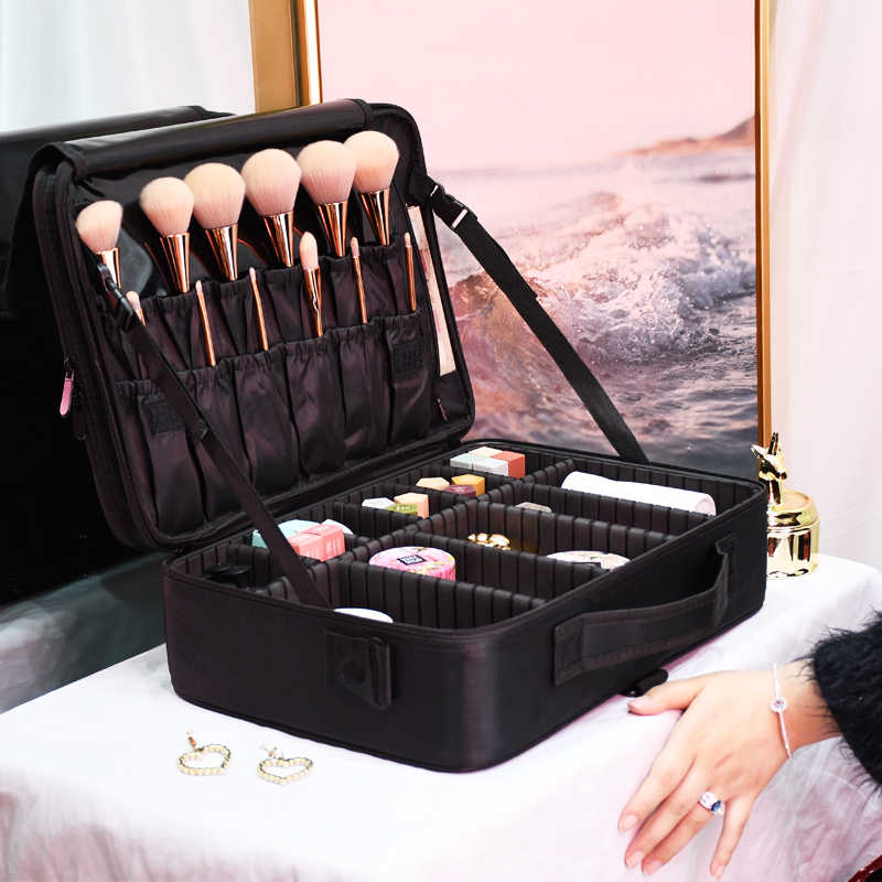 Neue Mode Frauen Kosmetik Tasche Reise Make-Up Professionelle Machen Up Box Kosmetik Tasche Taschen Schönheit Fall Für Make-Up Künstler