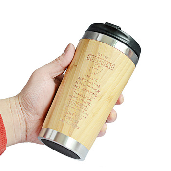 400MLTravel Coffee Mugs Bamboo Stainless Steel Cup Coffee Drink Bottle Flask Bambu Water Mugs For Mother's Day Gift 6
