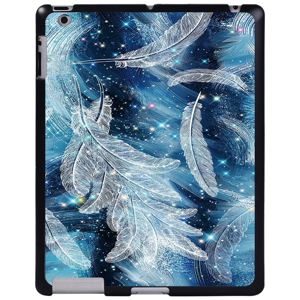 sparkling feather Brown For Apple iPad 8 10 2 2020 8th 8 Generation A2428 A2429 tablet PC Plastic Printed