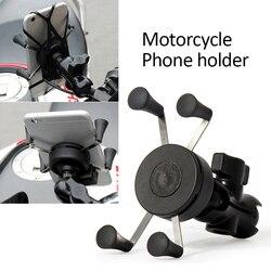1 Uds. Universal motocicleta bicicleta Motocross GPS teléfono titular de montaje abrazadera de teléfono para motocicleta titular de la motocicleta accesorio