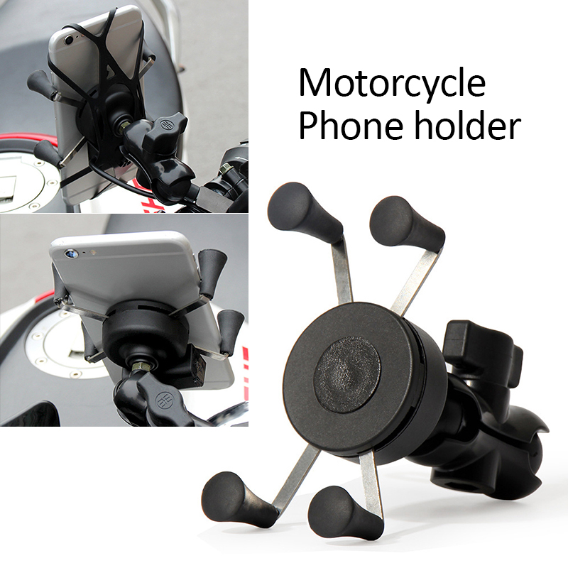 1Pcs Universal Motorcycle Motorbike Bicycle Motocross GPS Phone Holder Mount Clamp Motorcycle Phone Holder Motorcycle Accessorie