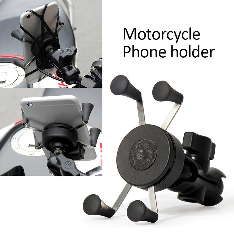 1Pcs Universal Motorcycle Motorbike Bicycle Motocross GPS Phone Holder Mount Clamp Motorcycle Phone Holder Motorcycle Accessorie
