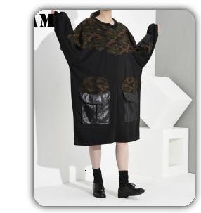 Hd06ca93f02f344dc8e6137152859a4a4q [EAM] Loose Fit Black Hollow Out Pin Spliced Jacket New Lapel Long Sleeve Women Coat Fashion Tide Autumn Winter 2019 JZ500