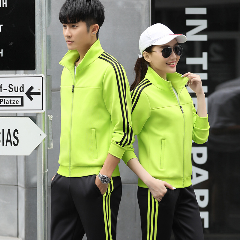 Spring And Autumn New Style Couples Leisure Sports Suit Business Attire Groups Sports Clothing Running Fitness Fashion