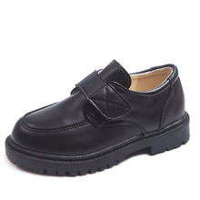 Unisex Black Kids leather shoes boys School shoes Kid Dress shoes for students Dance Wedding Party black Children Shoes 4-15T(China)