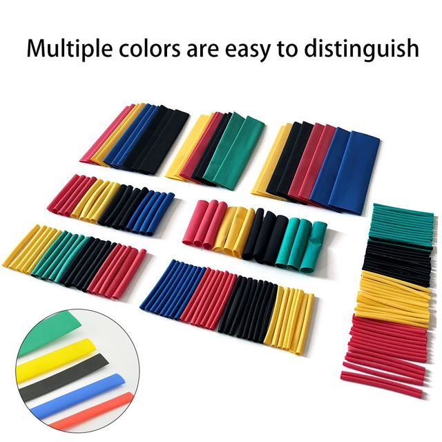 280/150 шт цветные термоусадочные трубки термоусадочная упаковка