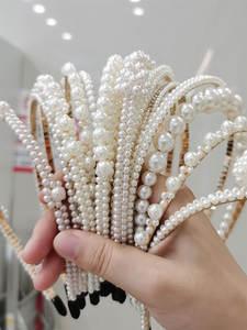 Pearl Headband Jewelry Hair-Accessories Cabello-Mujer Women Luxury Sunflower-Hoops Girls