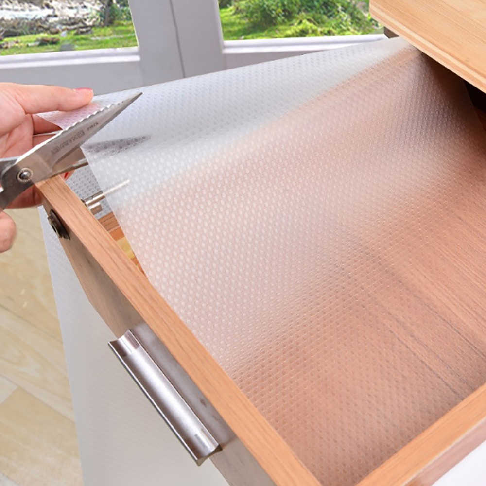 Cabinet Pad Paper Drawer Thick Waterproof Moisture Kitchen Stickers Home Wardrobe Pad Mildew Proof Shoe Cabinet Mat 1.5M