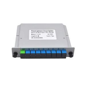 Image 1 - Free Shipping 10pcs/lot  SC UPC 1X8 Fiber Optic FTTH cassette box Optical Coupler  SC UPC PLC 1X8 fiber splitter Box