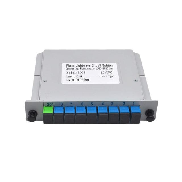 Free Shipping 10pcs/lot  SC UPC 1X8 Fiber Optic FTTH cassette box Optical Coupler  SC UPC PLC 1X8 fiber splitter Box