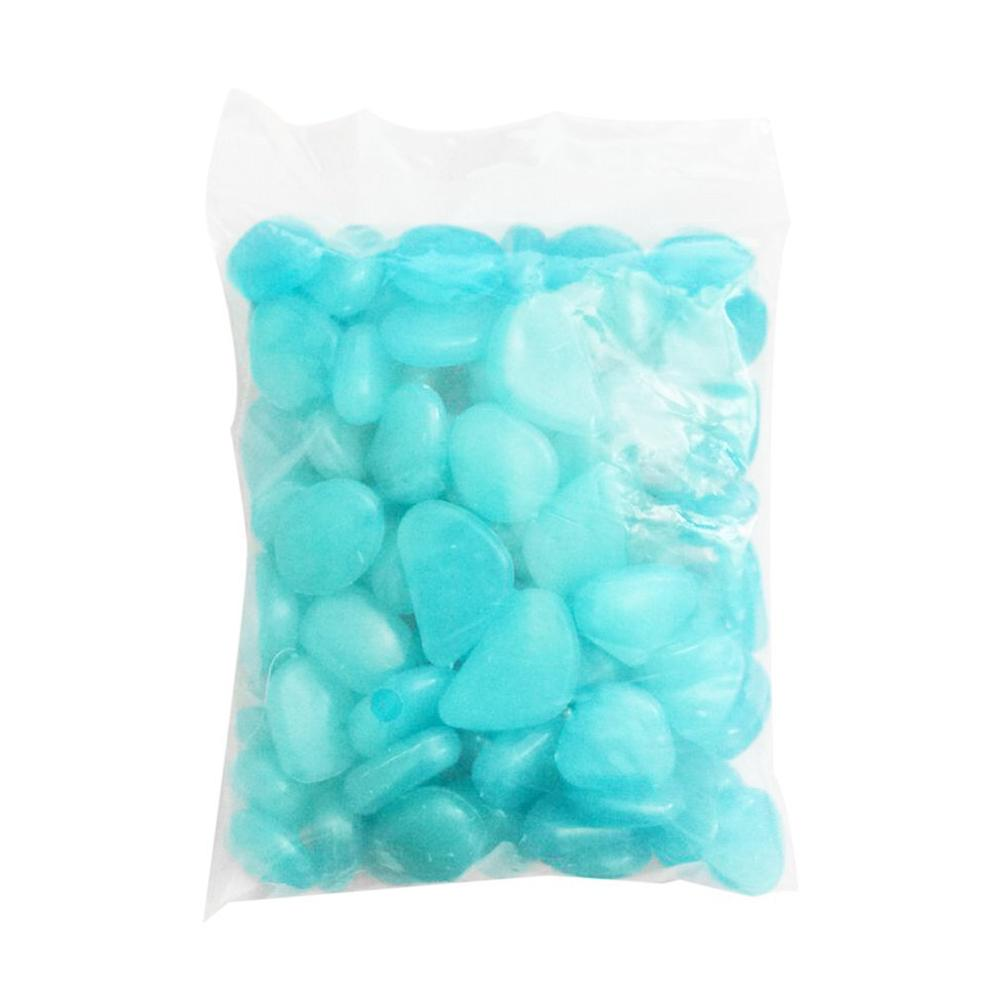 100pcs/pack Glow Pebbles 2020 Hot Sale Stones Home Fish Tank Garden Decoration Luminous Glowing In The Dark Accessory For Gift